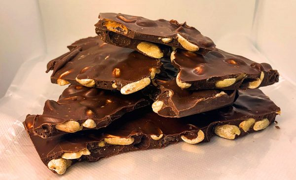 Chocolate Slab with Pistachios and Orange