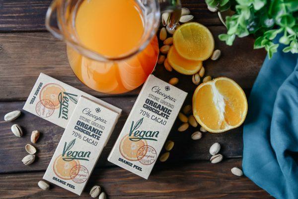 Organic Chocolate with Orange Peel 70%